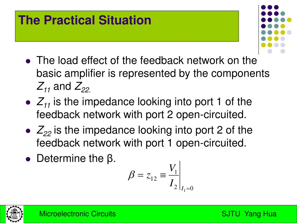 The load effect of the feedback network on the basic amplifier is represented by the components