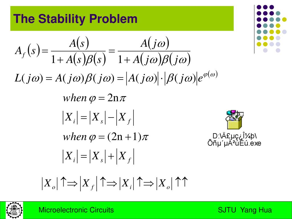 The Stability Problem
