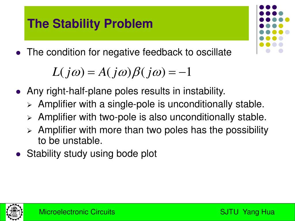 The condition for negative feedback to oscillate
