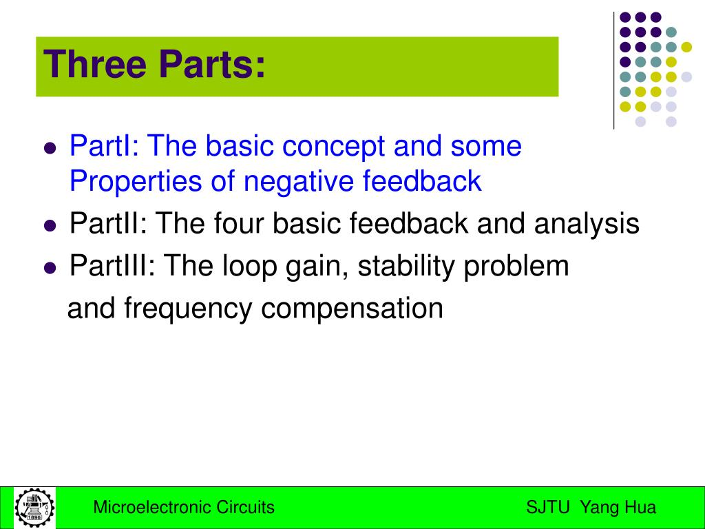 PartI: The basic concept and some Properties of negative feedback