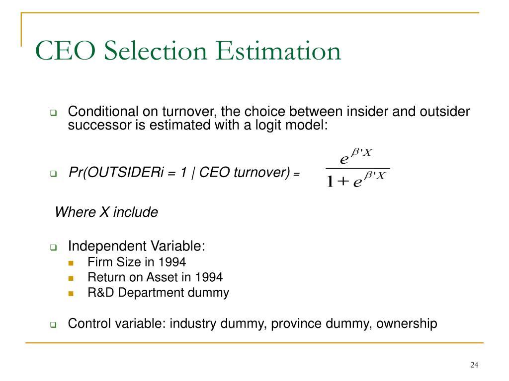 CEO Selection Estimation