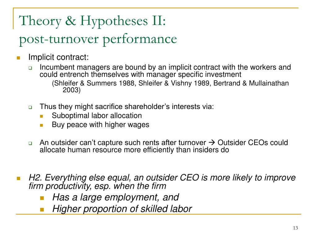 Theory & Hypotheses II: