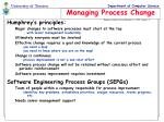 managing process change