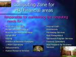 computing zone for hr financial areas