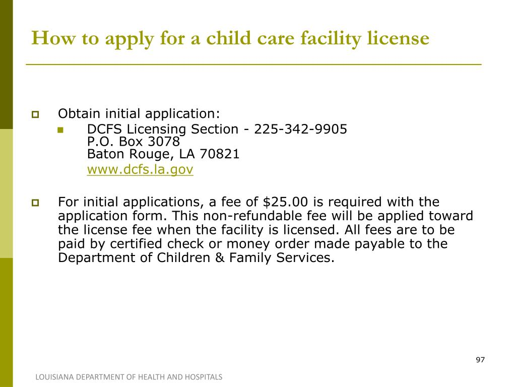 How to apply for a child care facility license