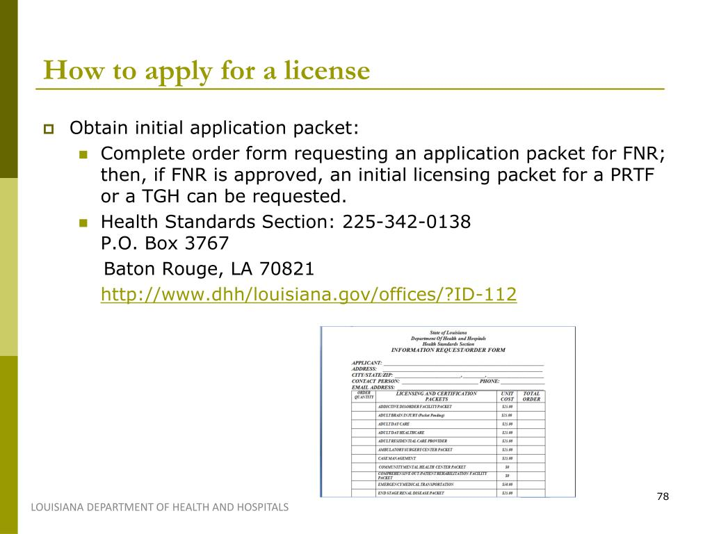 How to apply for a license