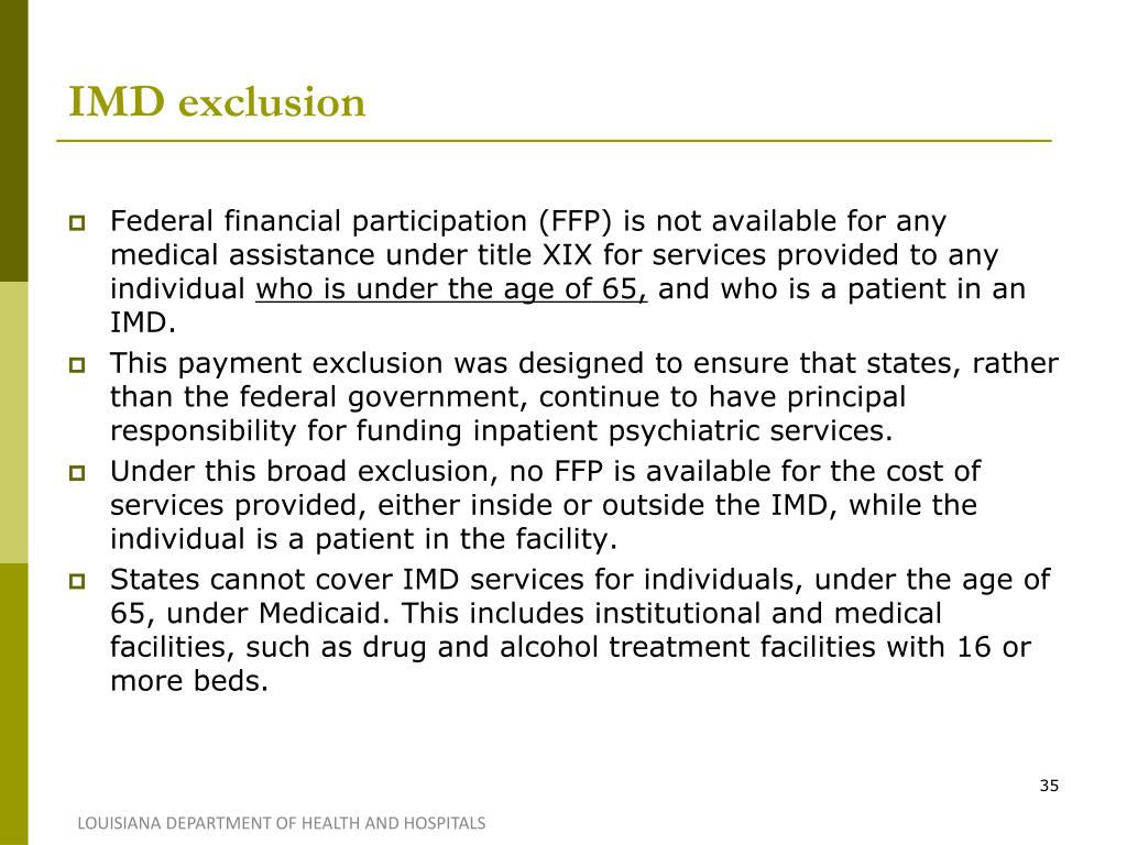 IMD exclusion