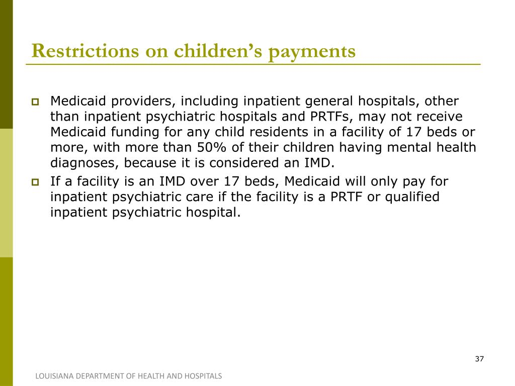 Restrictions on children's payments