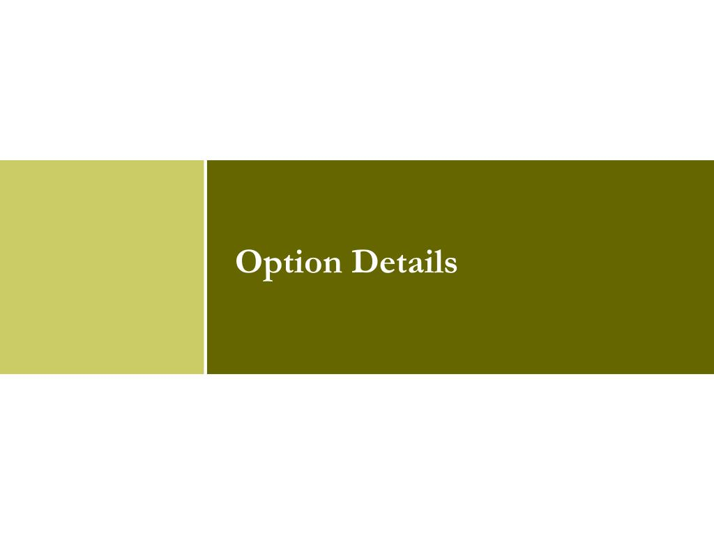 Option Details