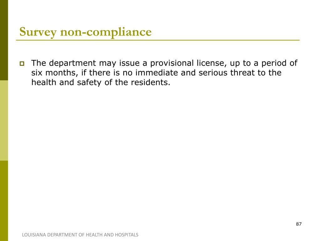 Survey non-compliance