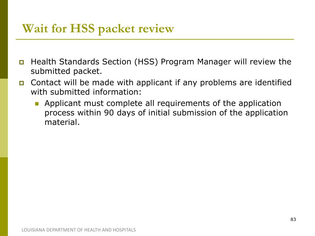 Wait for HSS packet review