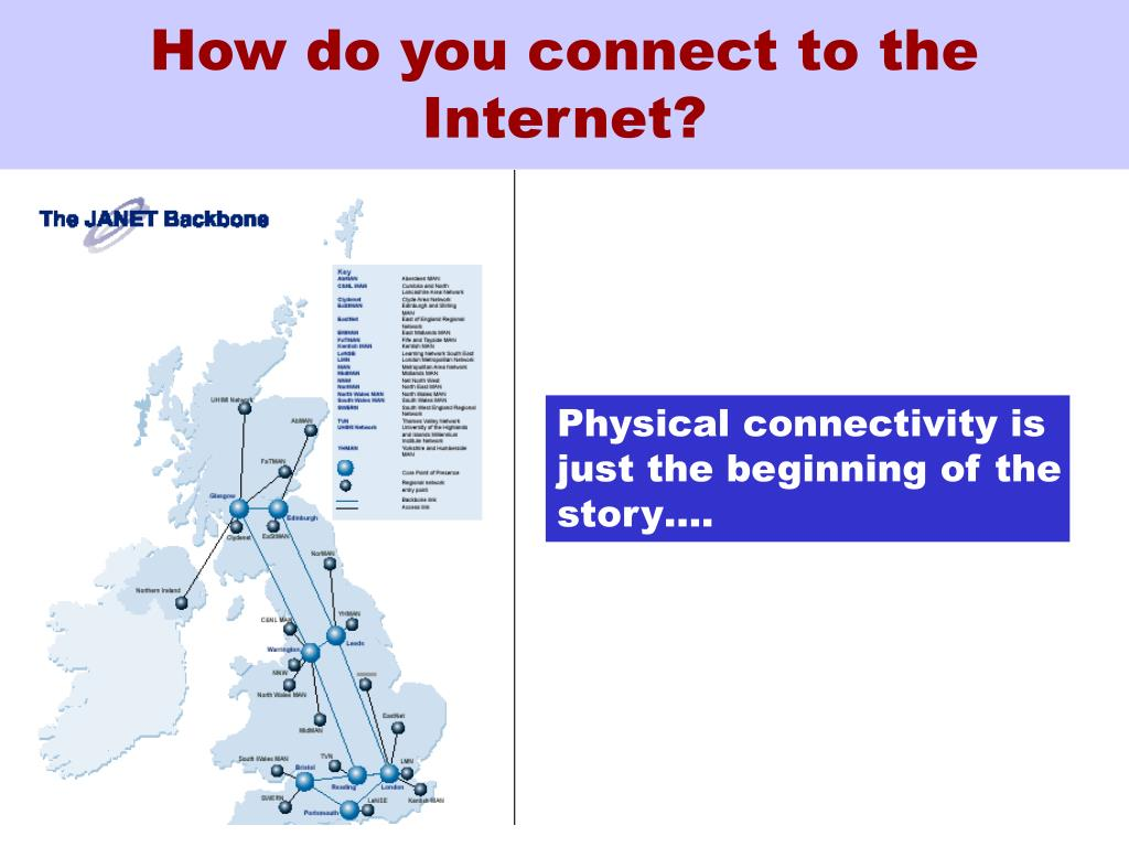 How do you connect to the Internet?