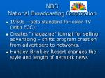 nbc national broadcasting corporation