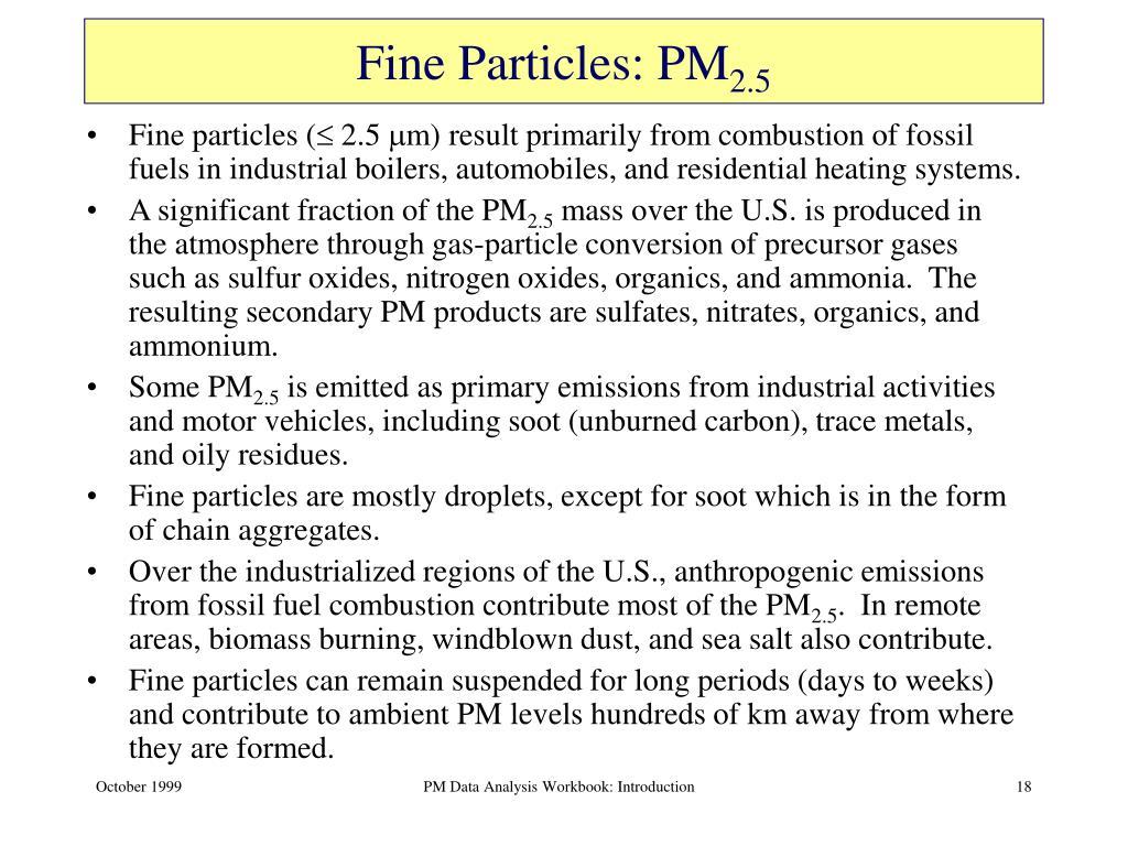 Fine Particles: PM