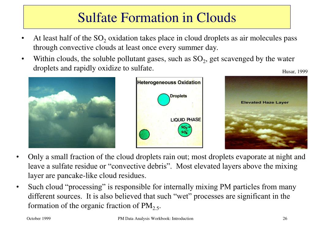 Sulfate Formation in Clouds