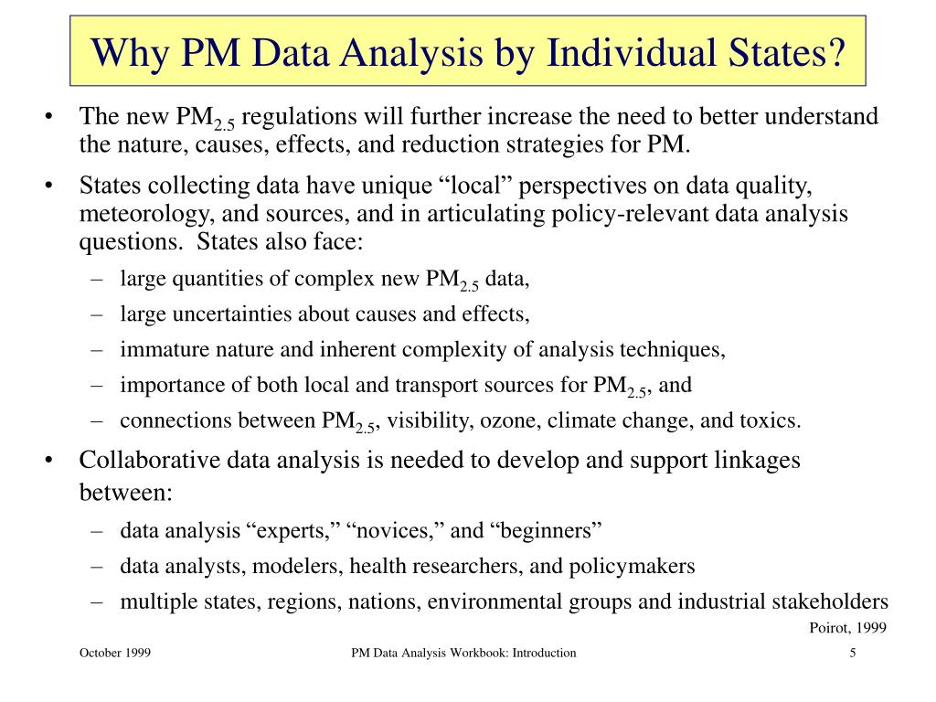 Why PM Data Analysis by Individual States?