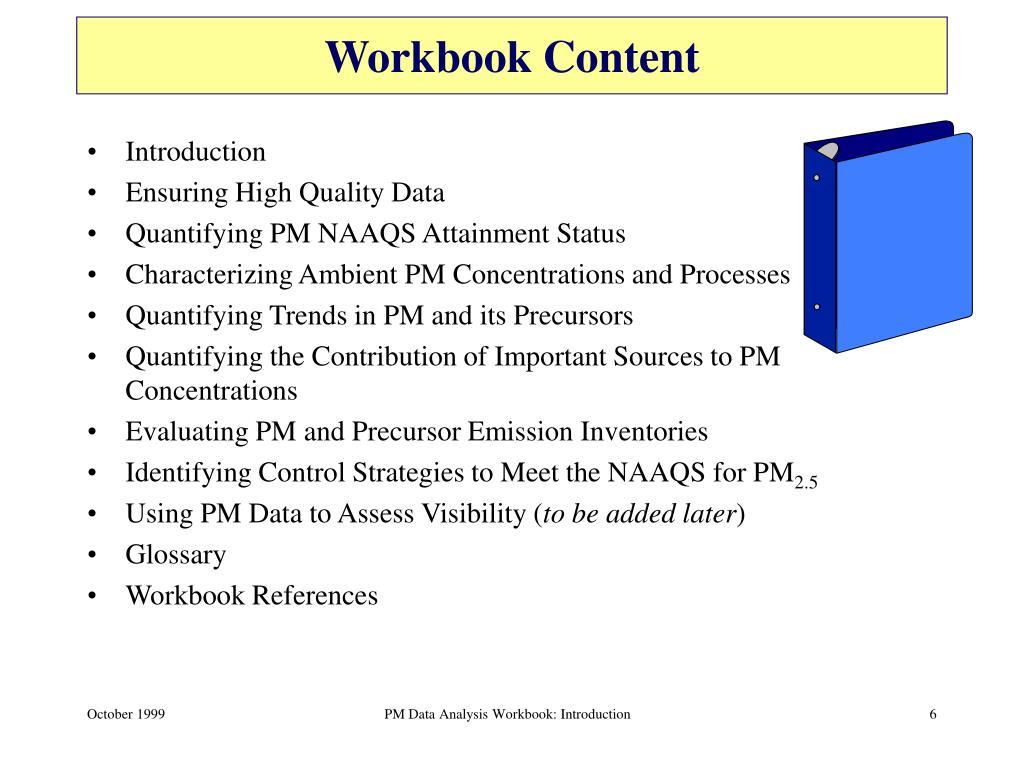 Workbook Content