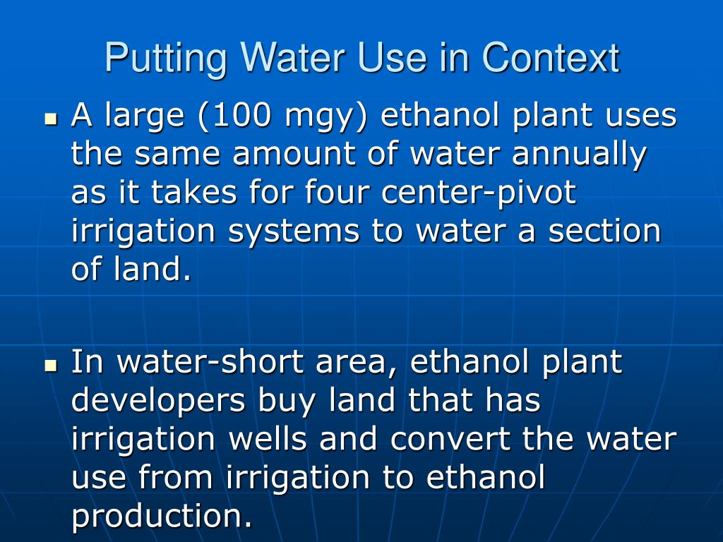 Putting Water Use in Context