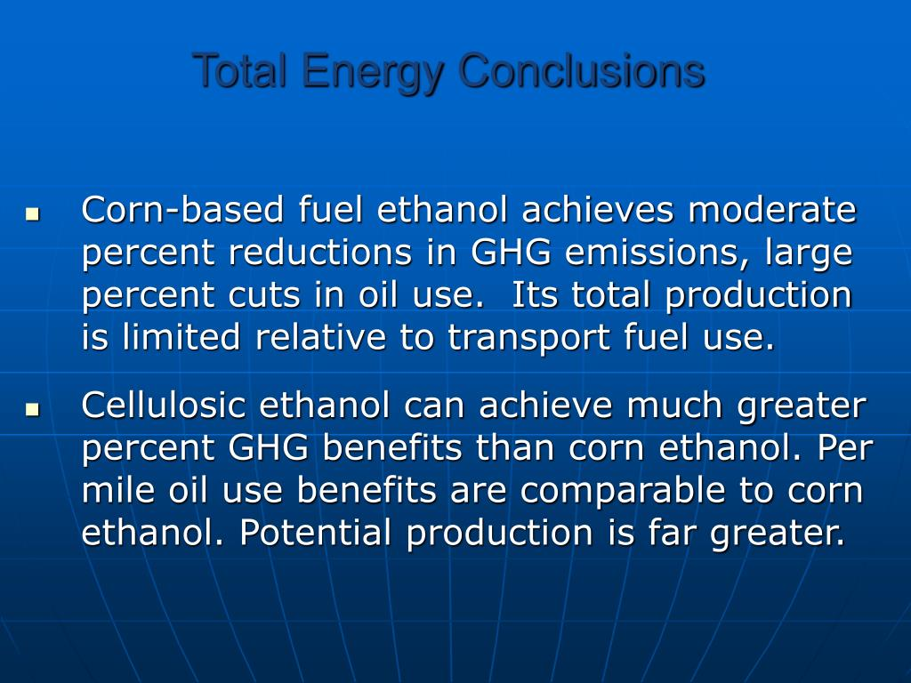 Total Energy Conclusions