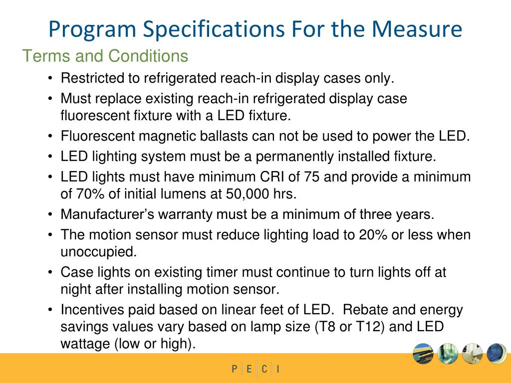 Program Specifications For the Measure