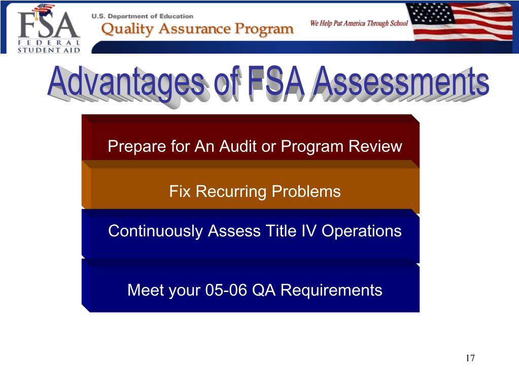 Advantages of FSA Assessments