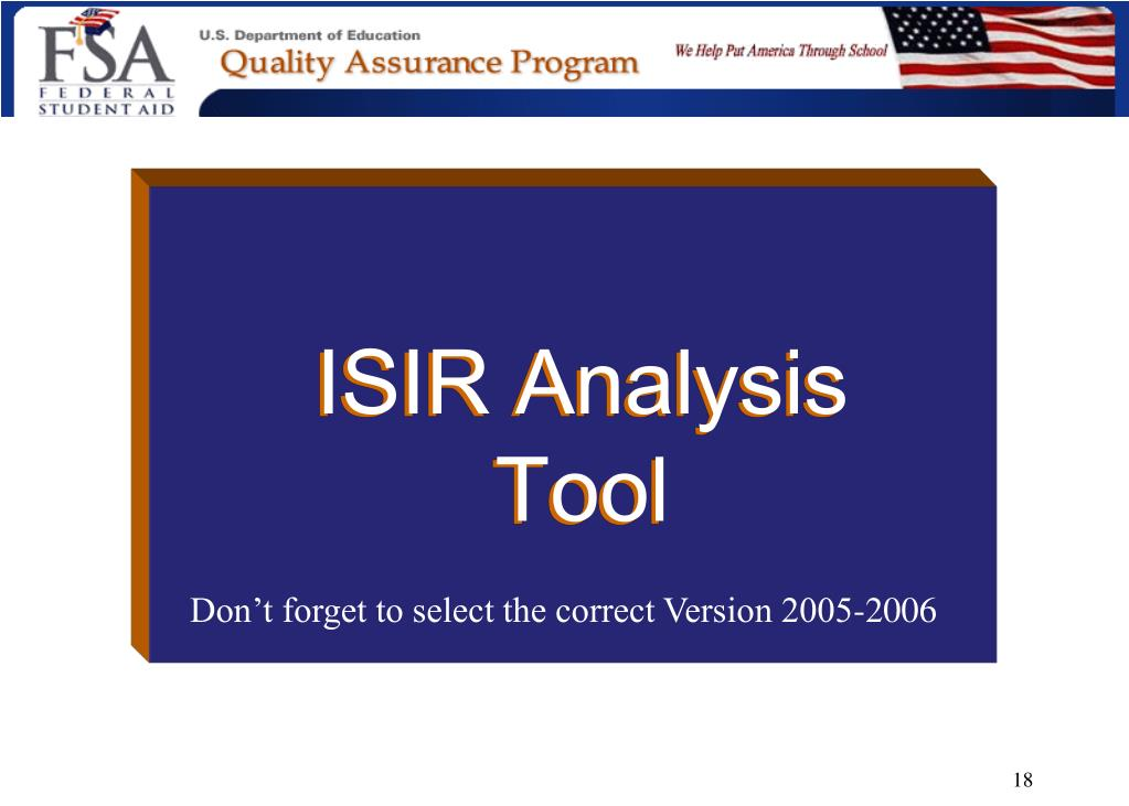 ISIR Analysis Tool