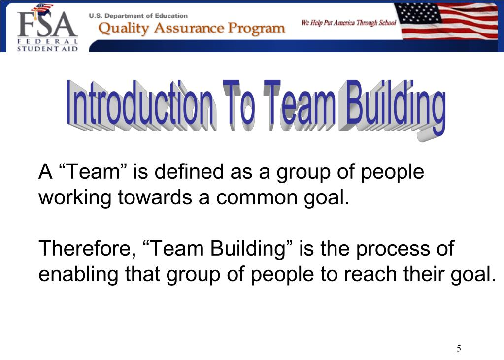 Introduction To Team Building