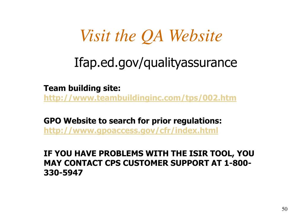 Visit the QA Website
