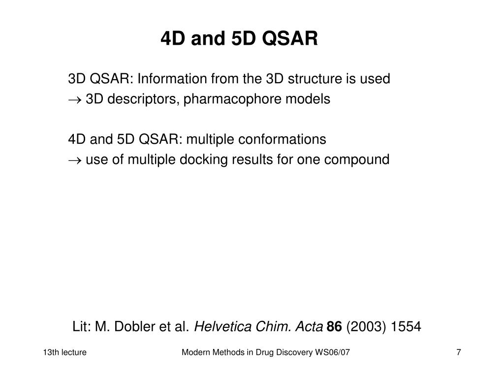 4D and 5D QSAR