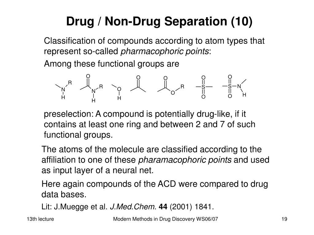Drug / Non-Drug Separation (10)
