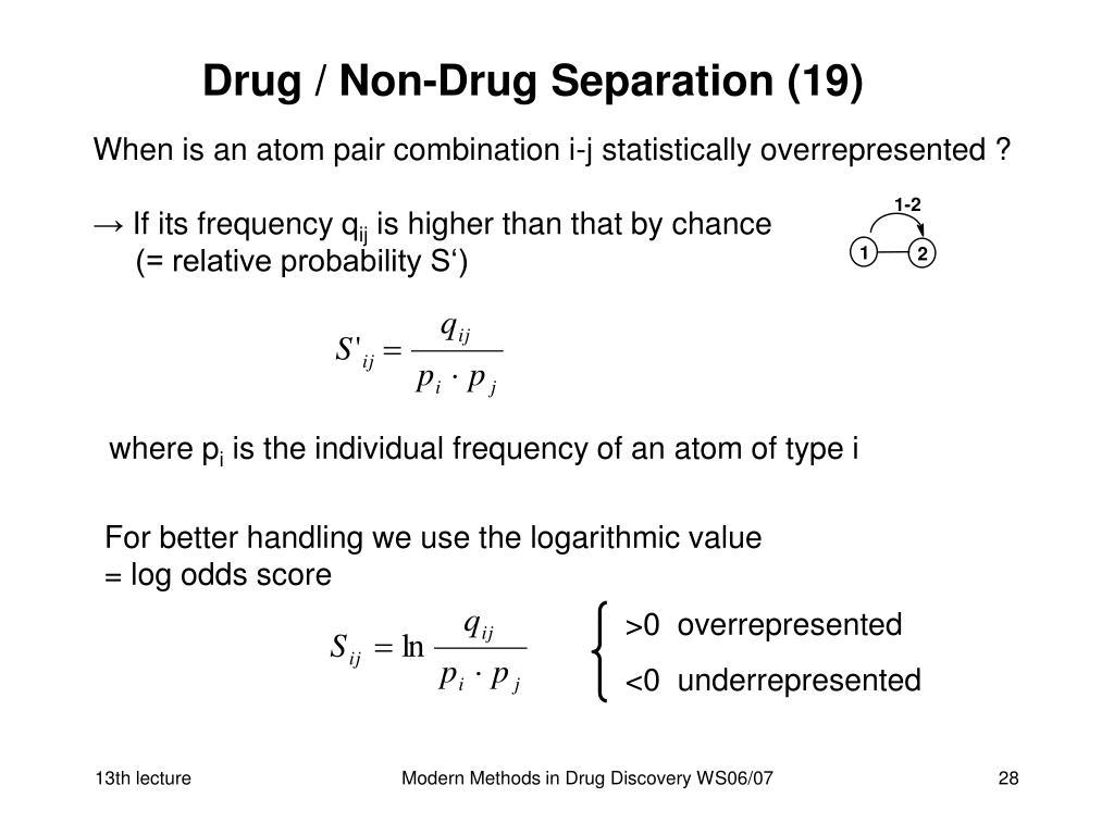 Drug / Non-Drug Separation (19)