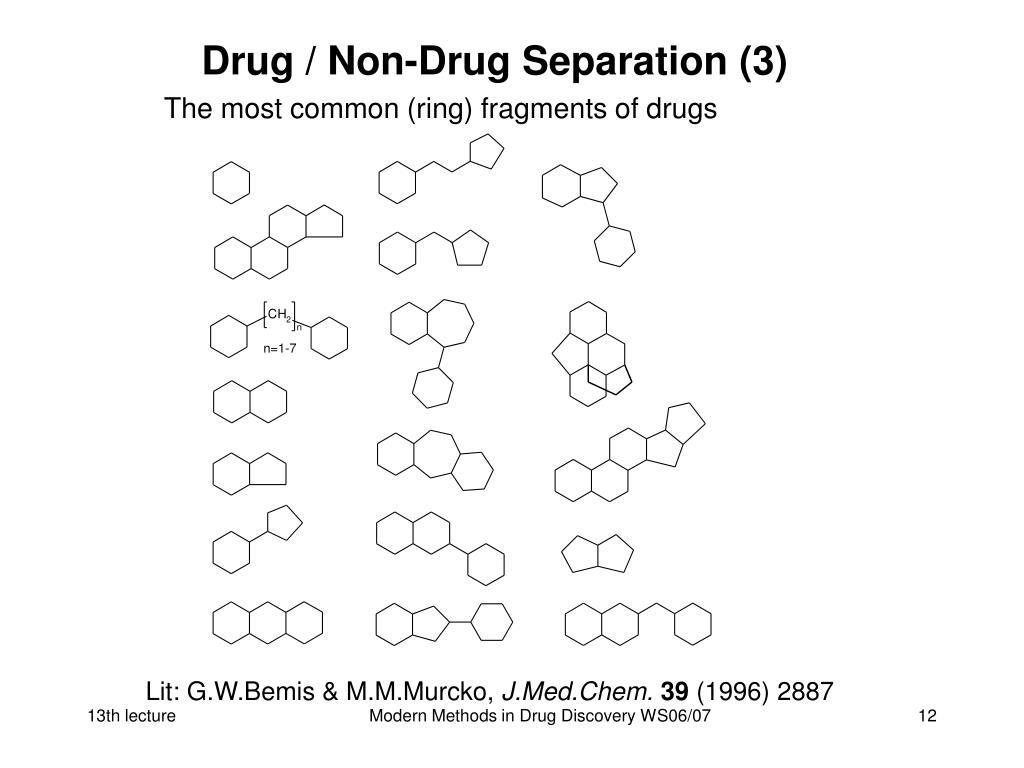 Drug / Non-Drug Separation (3)