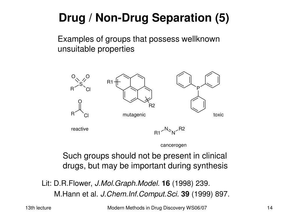 Drug / Non-Drug Separation (5)