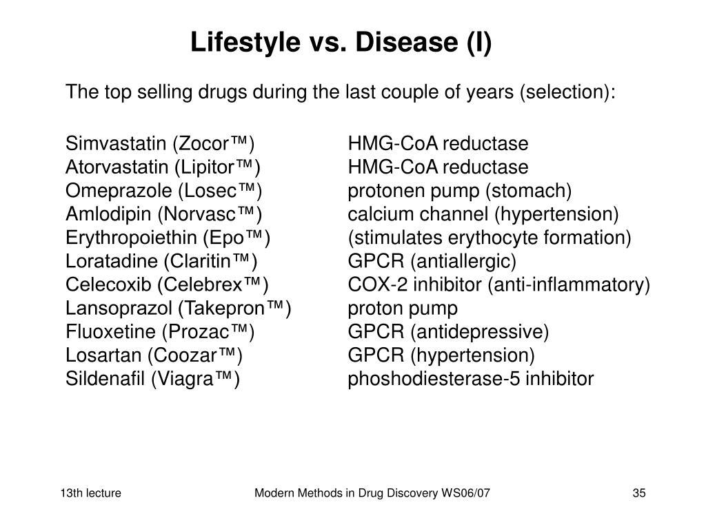 Lifestyle vs. Disease (I)