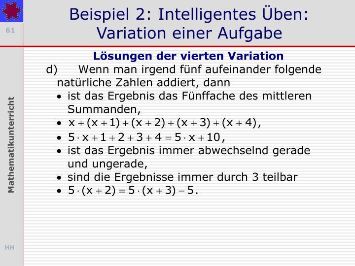 Beispiel 2: Intelligentes Üben: