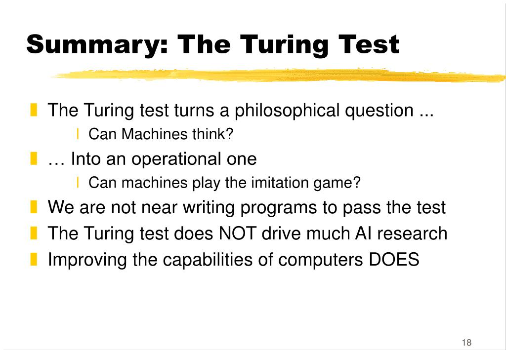 Summary: The Turing Test