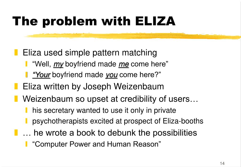 The problem with ELIZA
