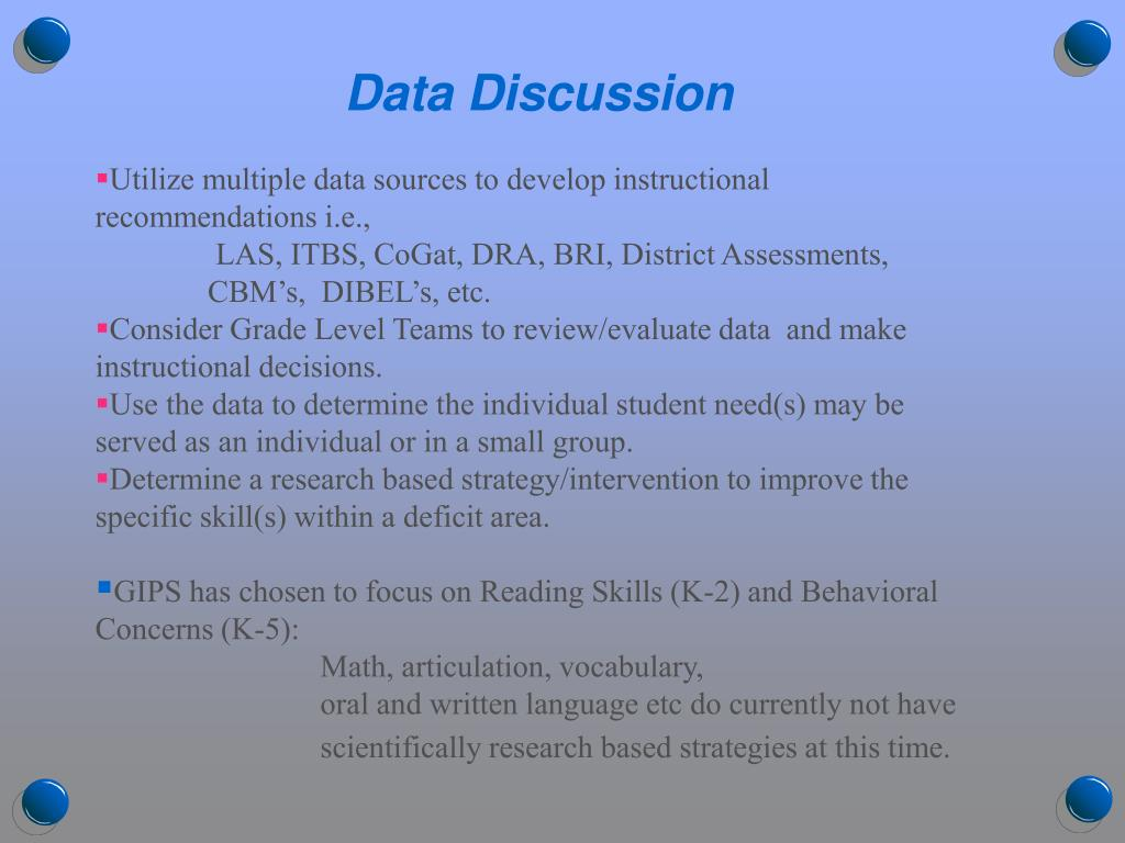 Data Discussion