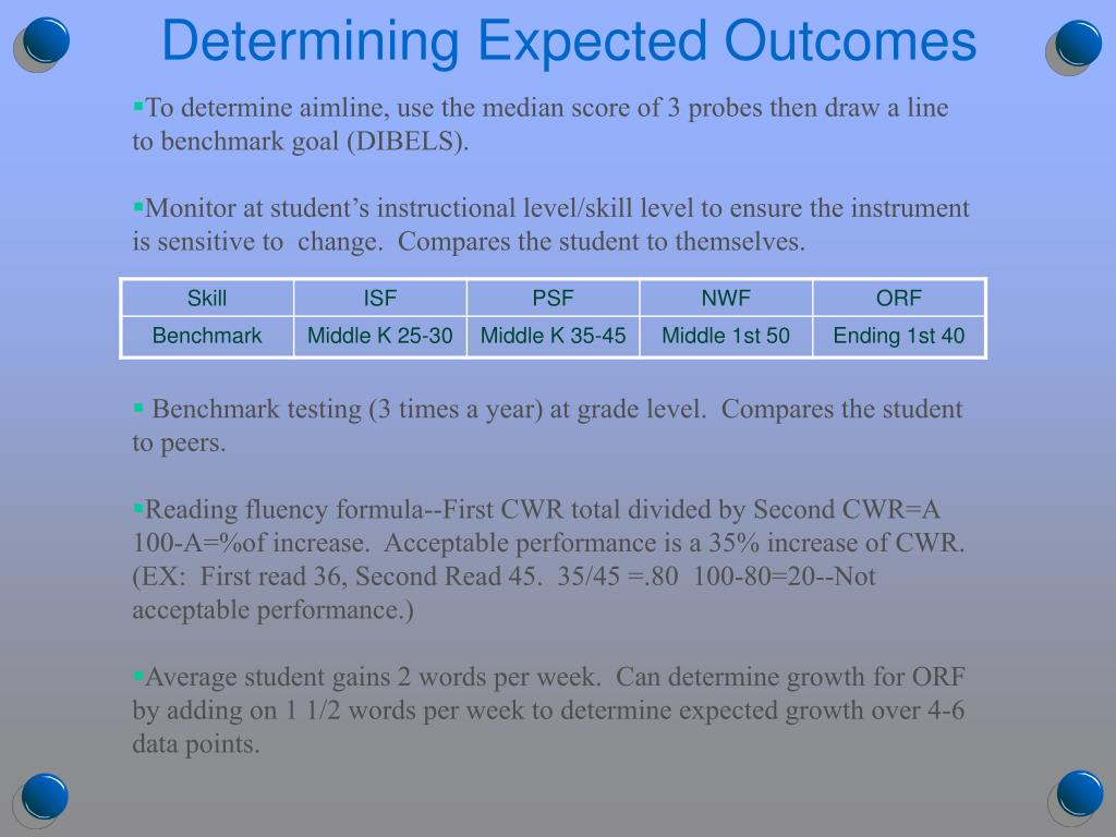 Determining Expected Outcomes