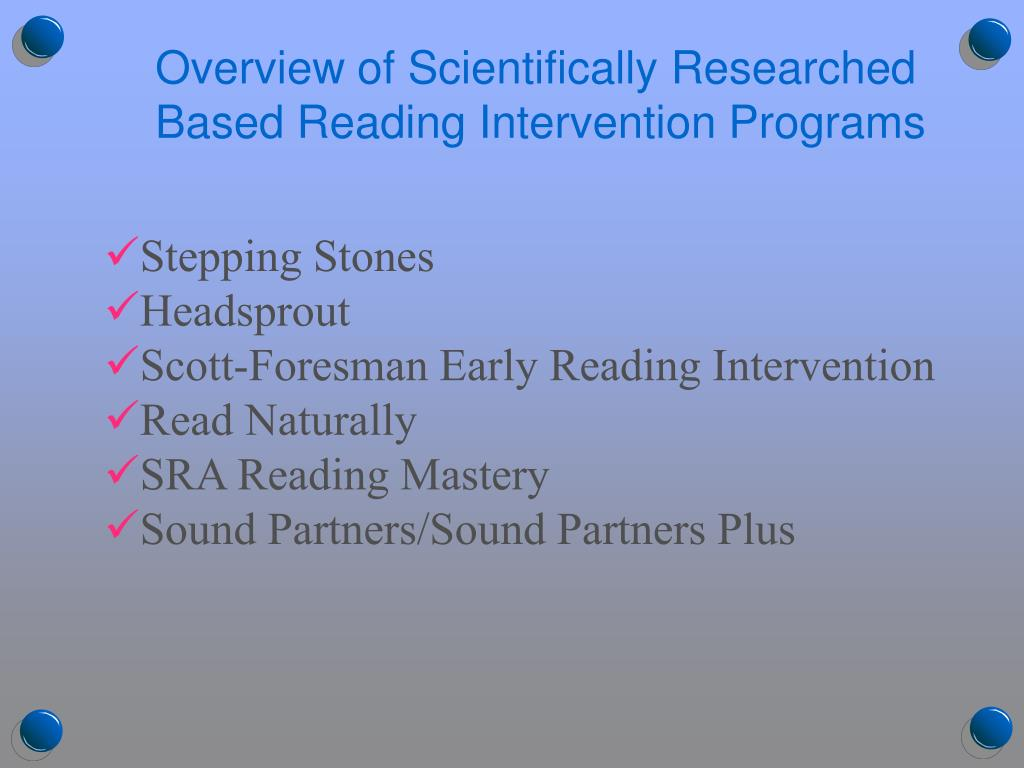 Overview of Scientifically Researched