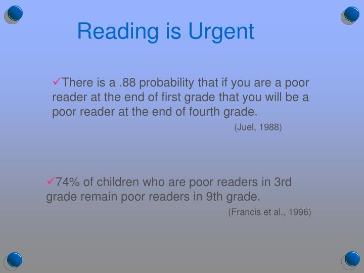 Reading is Urgent