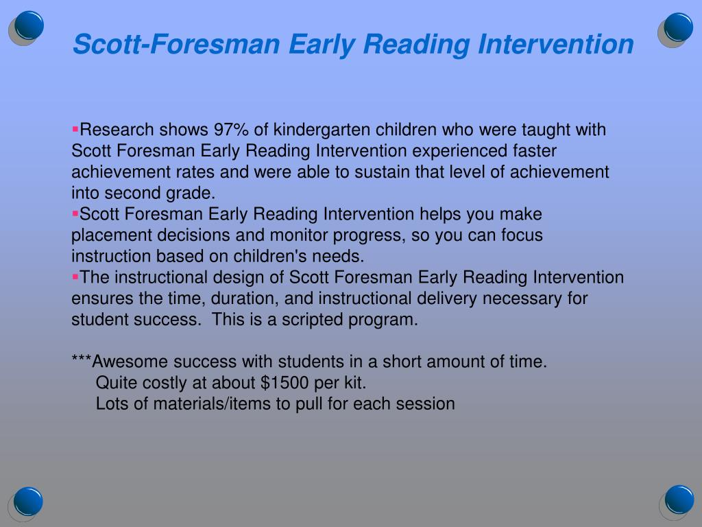 Scott-Foresman Early Reading Intervention