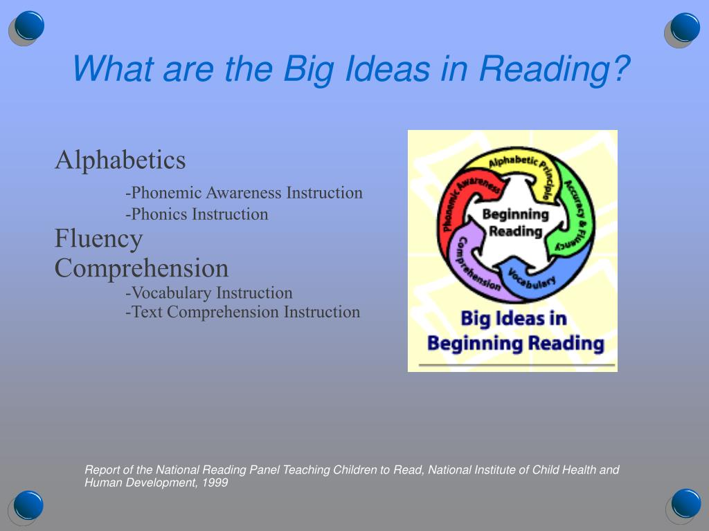 What are the Big Ideas in Reading?