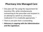 pharmacy into managed care30