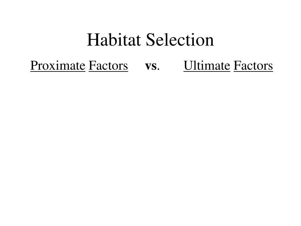 Habitat Selection