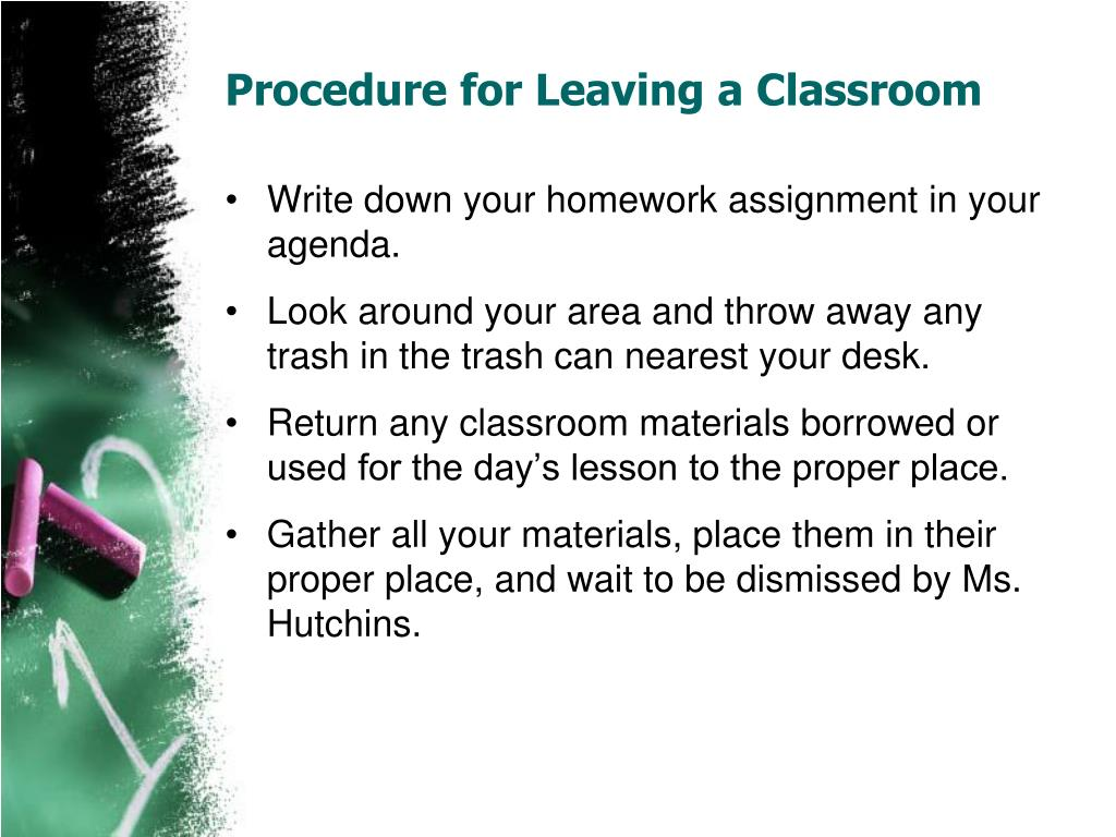 Procedure for Leaving a Classroom