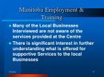 manitoba employment training