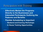 participation with training