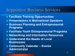 supportive business services