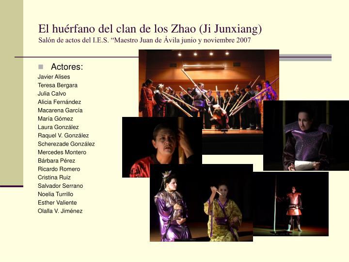 El huérfano del clan de los Zhao (Ji Junxiang)